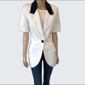 Vintage Black + White Christian Dior Fitted Blazer